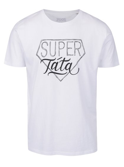 Bílé triko s potiskem super táta