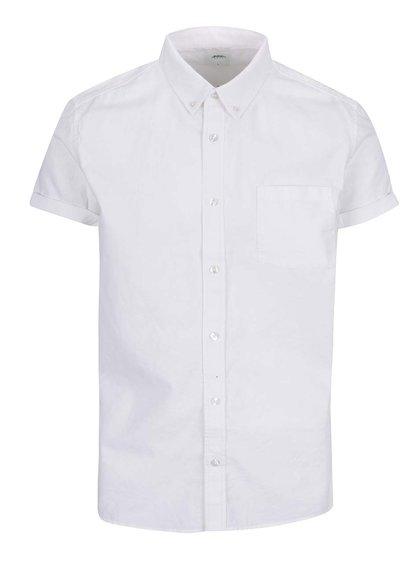 Bílá pánská košile Burto Menswear London s krátkým rukávem
