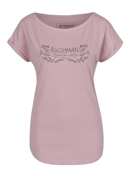 Růžové dámské tričko Bushman pro milovníky přírody