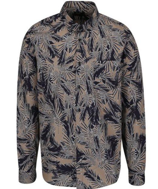 tmavá pánská košile s dlouhým rukávem