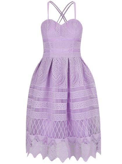 fialové šaty chichi london s krajkou