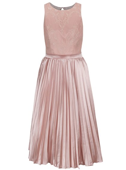 Starorůžové šaty s plisovanou sukní ChiChi London b3914c5ecb