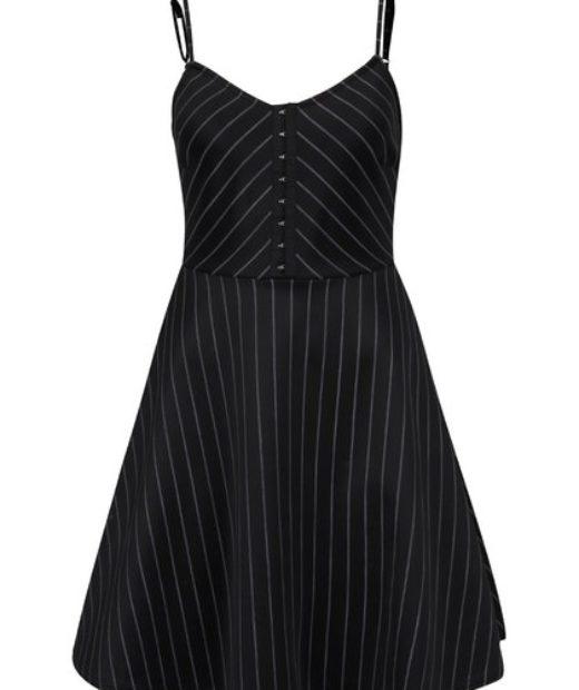 Černé šaty Tally WEiL s bílými pruhy