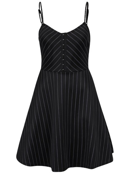 Černé šaty do půlky stehen s bílými pruhy TALLY WEiJL 8f30fbb213