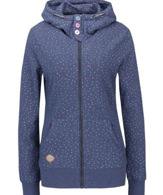 Ragswear modrá dámská mikina s kapucí