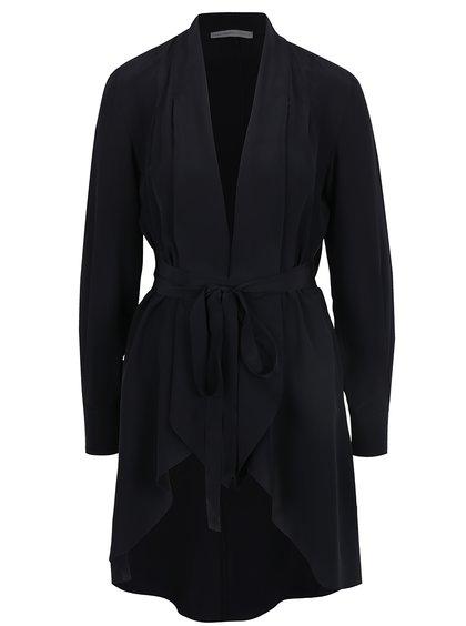 Jemné, černé, dámské sako nad kolena