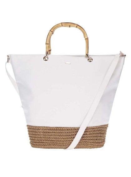 Velká hnědo bílá kabelka Nalí shopper 7c8953b78f