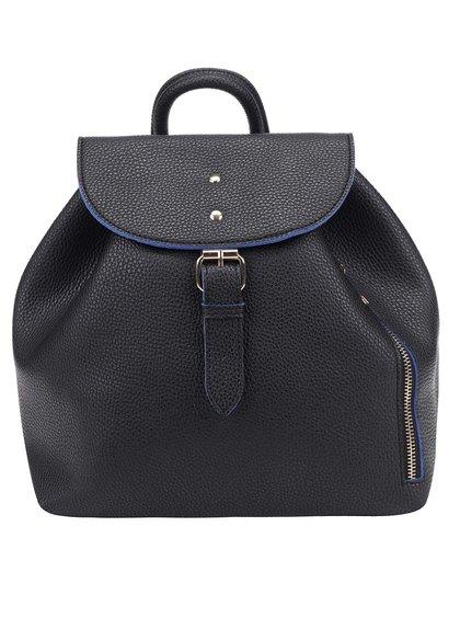 Černý batoh s modrými detaily Fez by Fez Zaino Zip 5005dccf19
