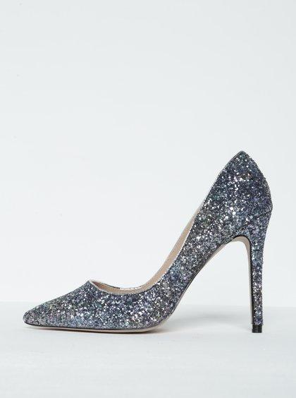 Stříbrno-modré boty na vysokém podpatku Miss KG - Zajímavá Móda 7ecd07733d