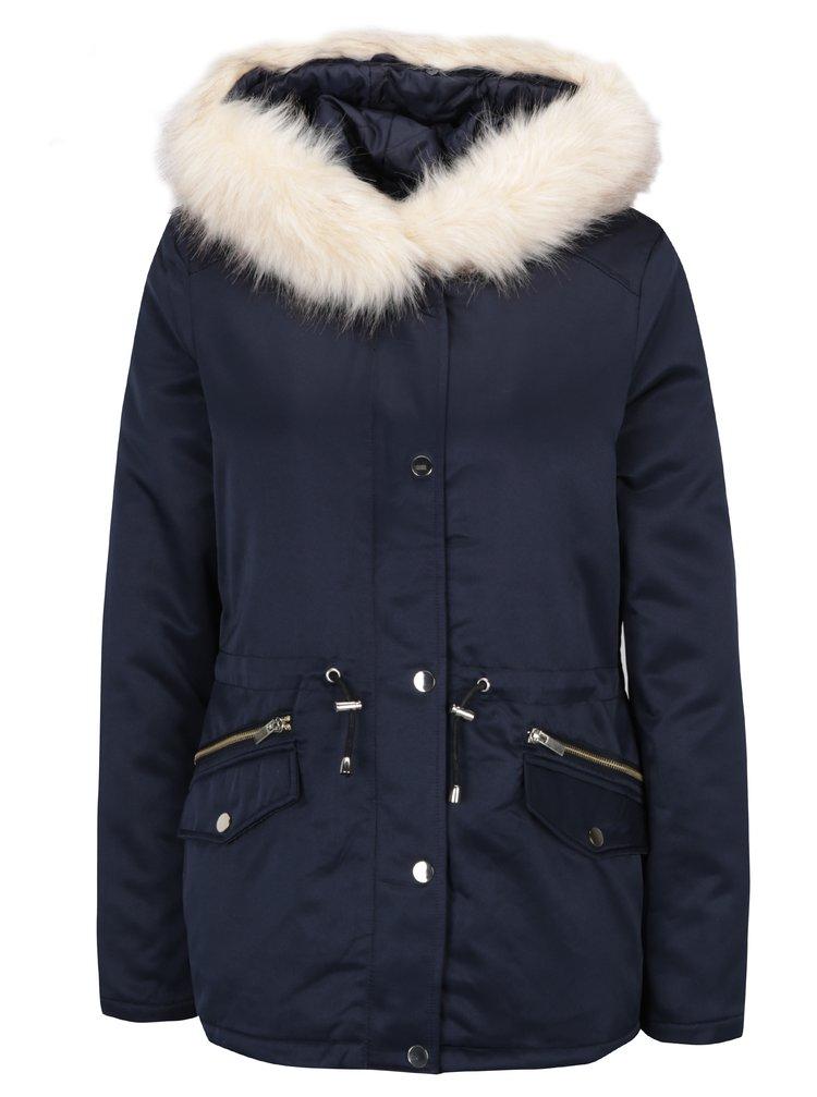 luxusní tmavě modrá bunda Dorothy Perkins