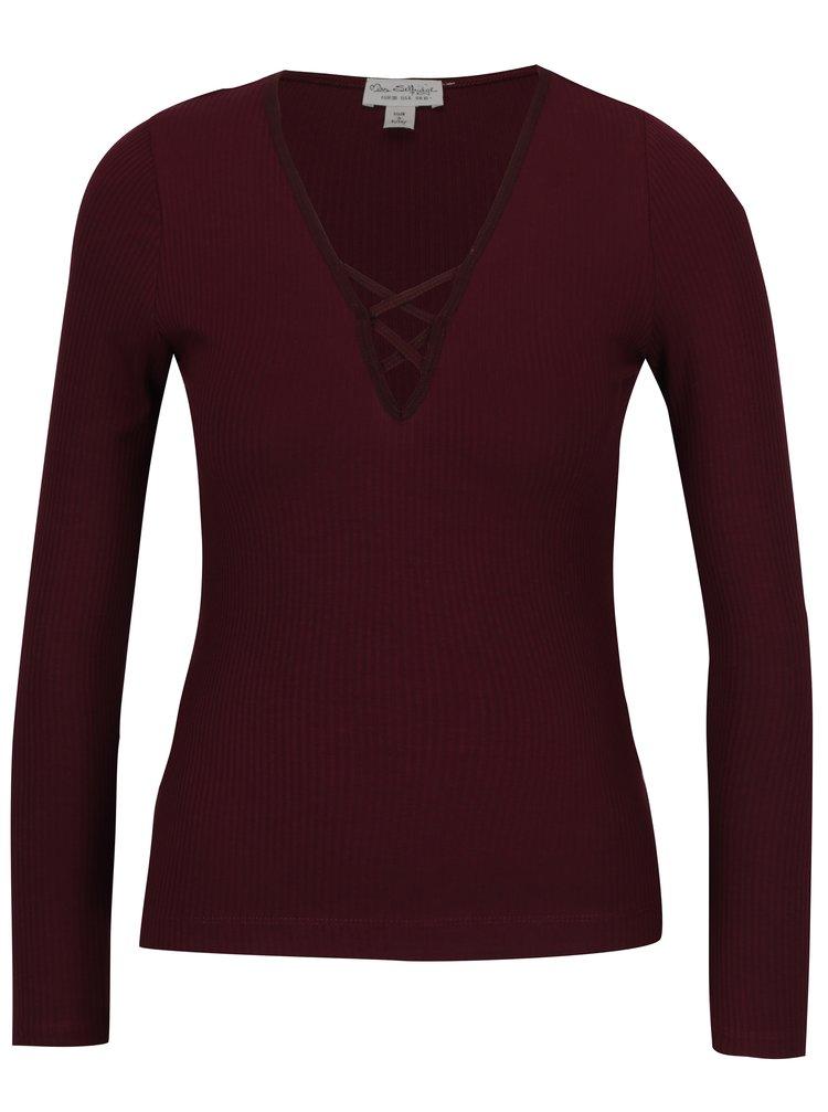 vínové dámské tričko Miss Selfridge