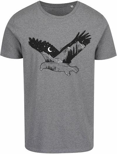 šedé pánské triko s orlem ZOOT original