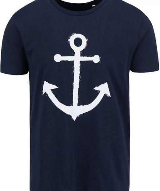 pánské modro bílé námořnické tričko s kotvou