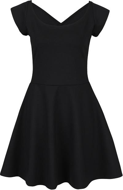 Černé šaty s lodičkovým výstřihem 5a039bf88b