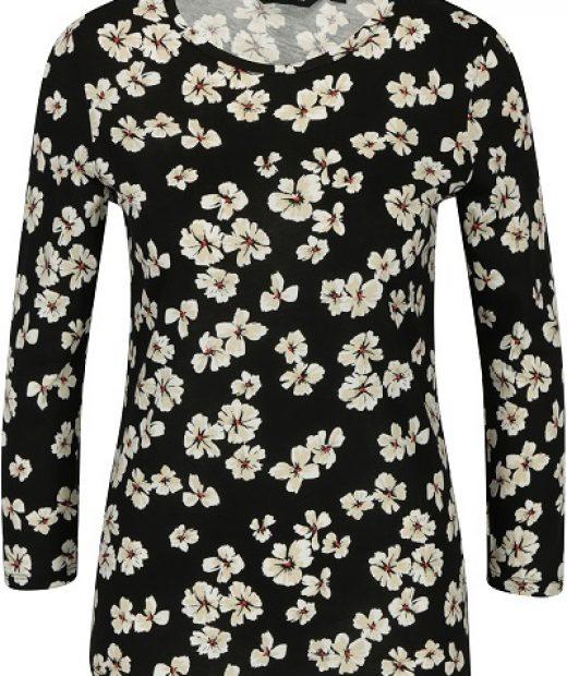 dámské černé tričko Dorothy Perkins s květy