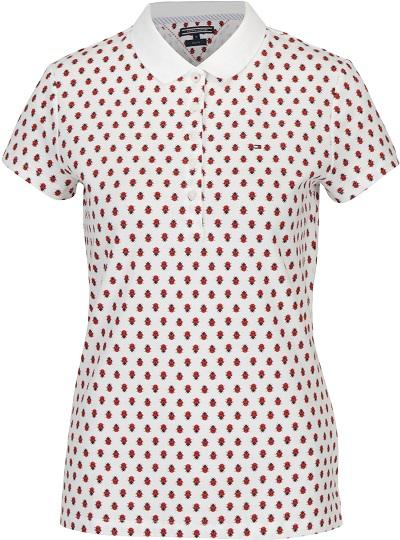 4975d0a11c6 Dámské bílé polo tričko s motivem berušky Tommy Hilfiger. Odoláte špičkové  kvalitě ...