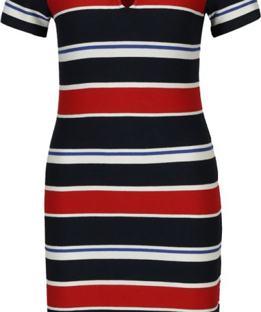 šaty s červeno modrými pruhy Desigual