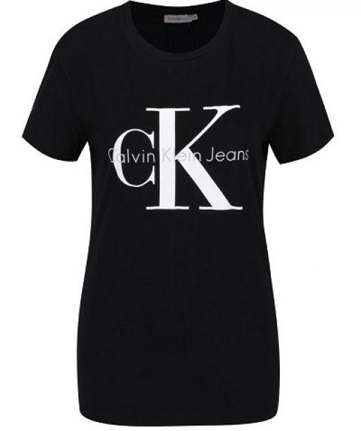 klasické dámské černé triko preztižní značky Calvin Klein