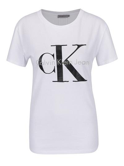 a7f966531 Dámské bílé tričko Calvin Klein Jeans - Zajímavá Móda
