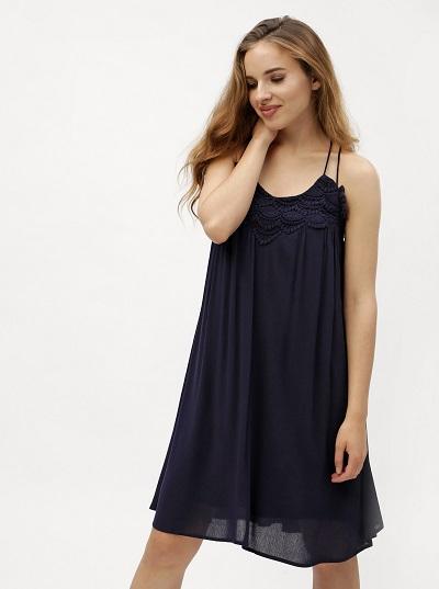 Tmavě modré vzdušné šaty Vero Moda 1d878712e4